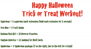 Trick or Treat Workout