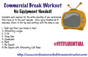 TV Commercial Break Workout