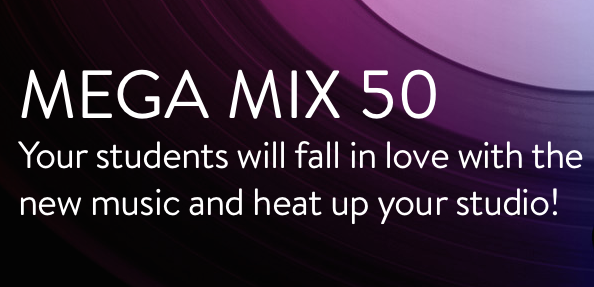 Find out what music is on Zumba fitness mega mix 50