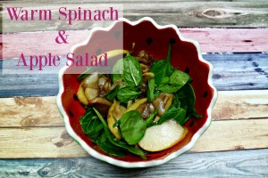 Warm Spinach and Apple Salad