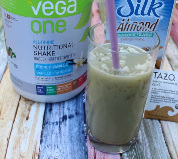 Iced Vanilla Chai Latte Protein Chill is the perfect way to enjoy a cool delicious treat on a hot summer day while keeping your healthy eat goals in check!